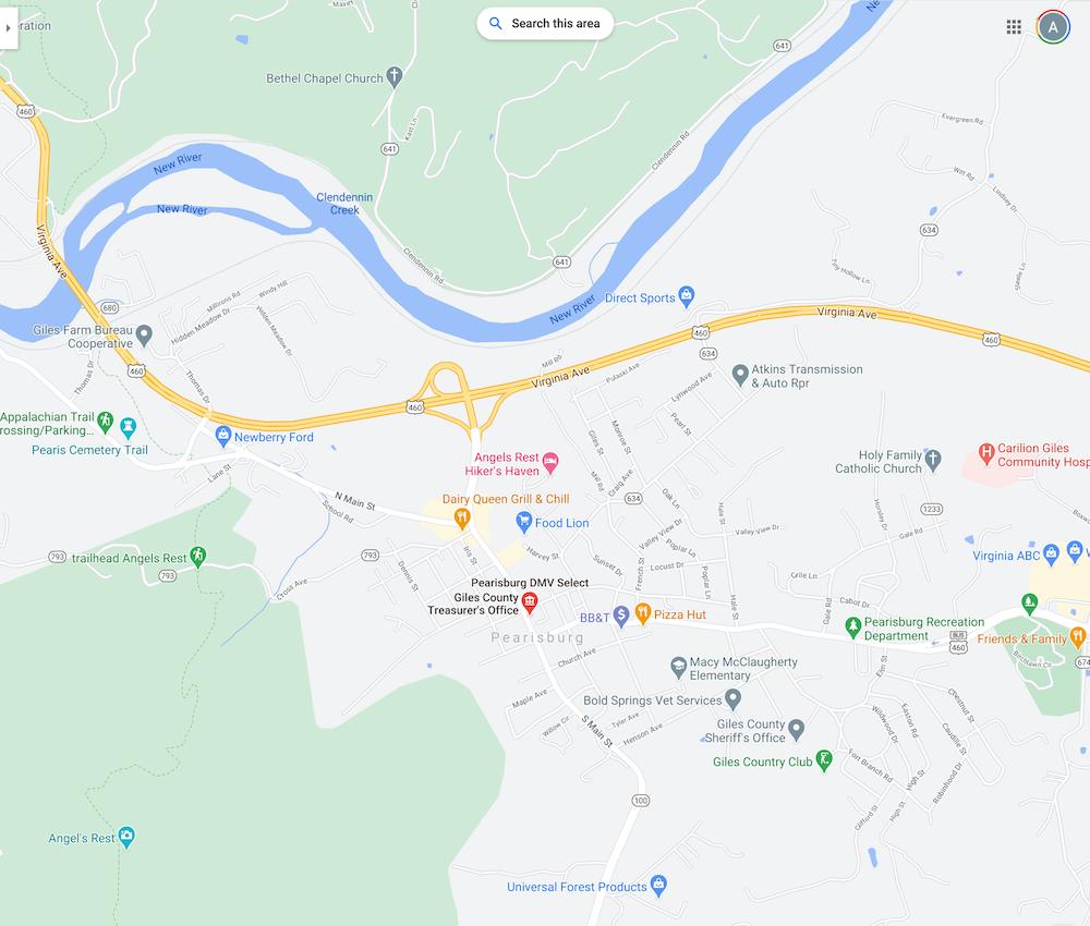 Map to DMV